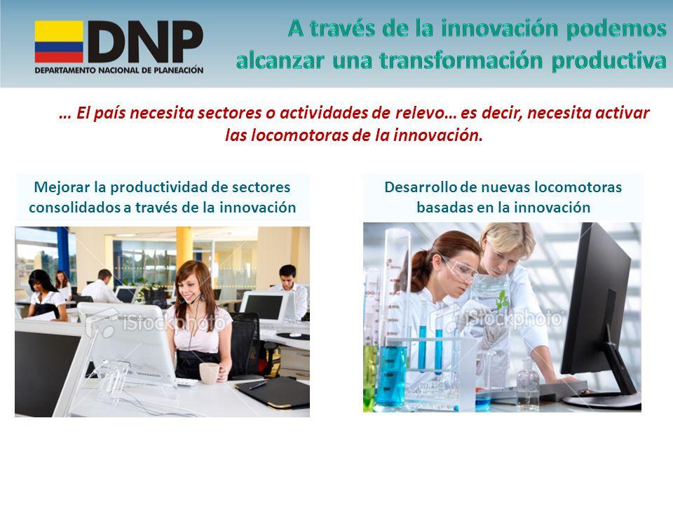 … El país necesita sectores o actividades de relevo… es decir, necesita activar las locomotoras de la innovación. Mejorar la productividad de sectores