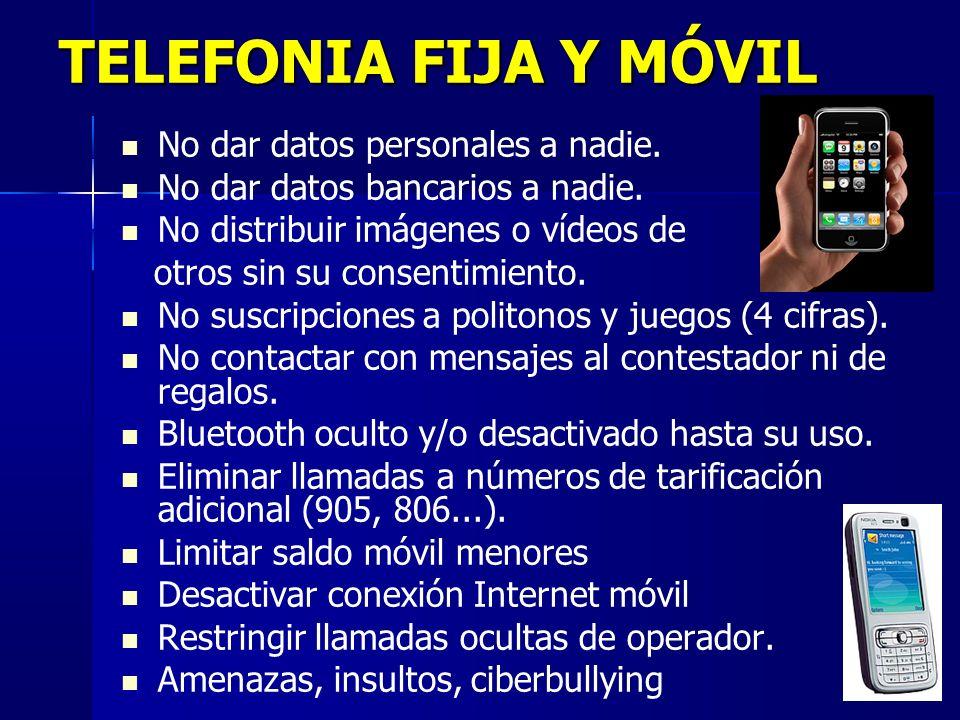 11 TELEFONIA FIJA Y MÓVIL No dar datos personales a nadie.