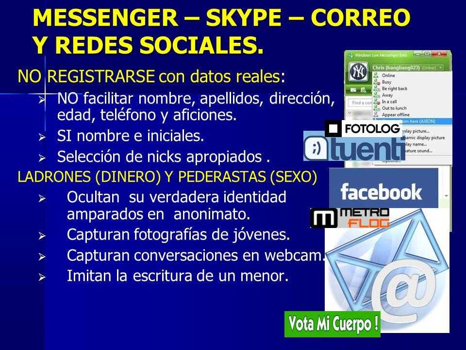2 MESSENGER – SKYPE – CORREO Y REDES SOCIALES.
