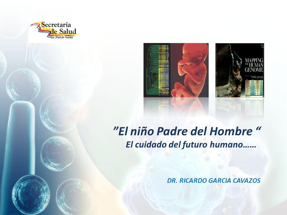 El niño Padre del Hombre El cuidado del futuro humano…… DR. RICARDO GARCIA CAVAZOS