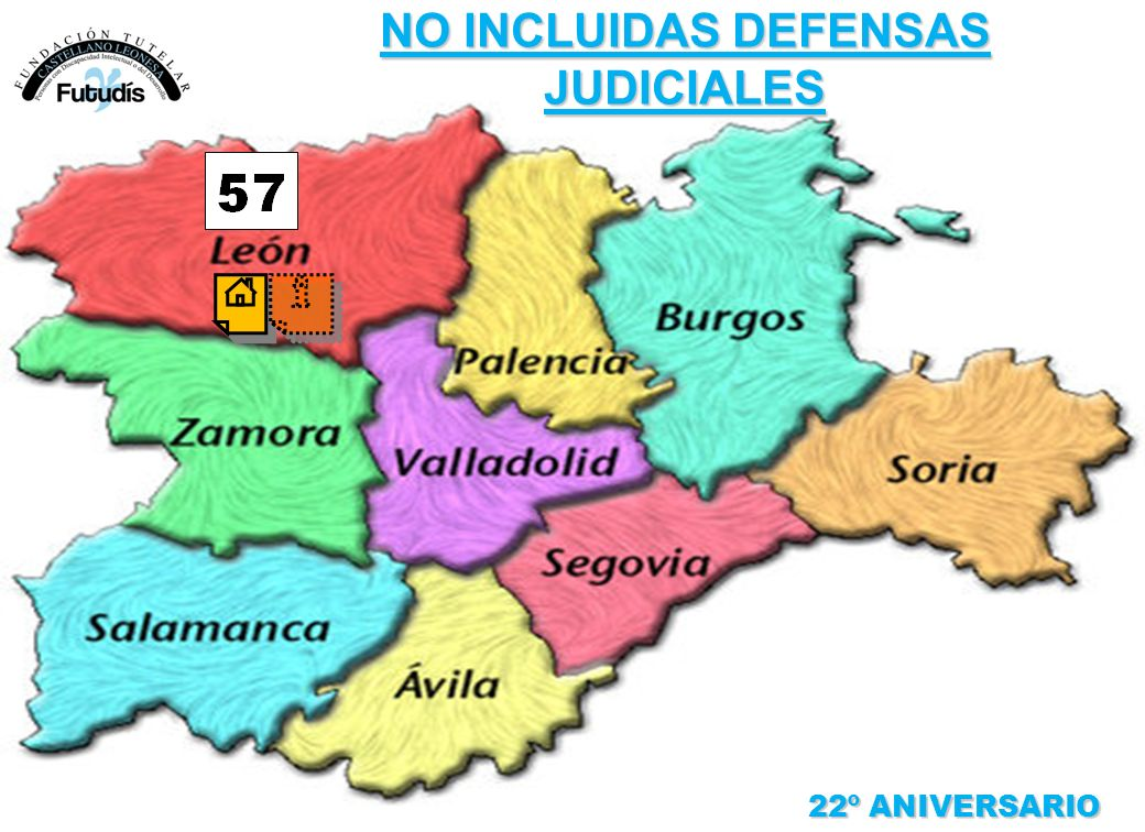 22º ANIVERSARIO NO INCLUIDAS DEFENSAS JUDICIALES