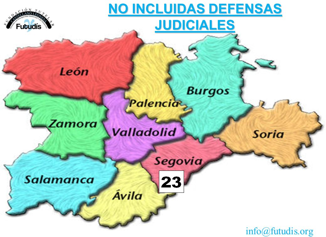 NO INCLUIDAS DEFENSAS JUDICIALES info@futudis.org