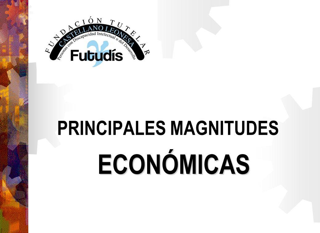 PRINCIPALES MAGNITUDES ECONÓMICAS
