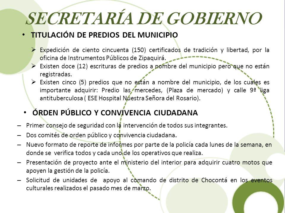 SECRETARÍA DE GOBIERNO – Primer consejo de seguridad con la intervención de todos sus integrantes. – Dos comités de orden público y convivencia ciudad