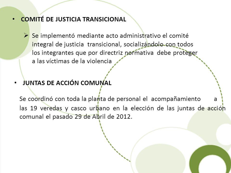 Se coordinó con toda la planta de personal el acompañamiento a las 19 veredas y casco urbano en la elección de las juntas de acción comunal el pasado