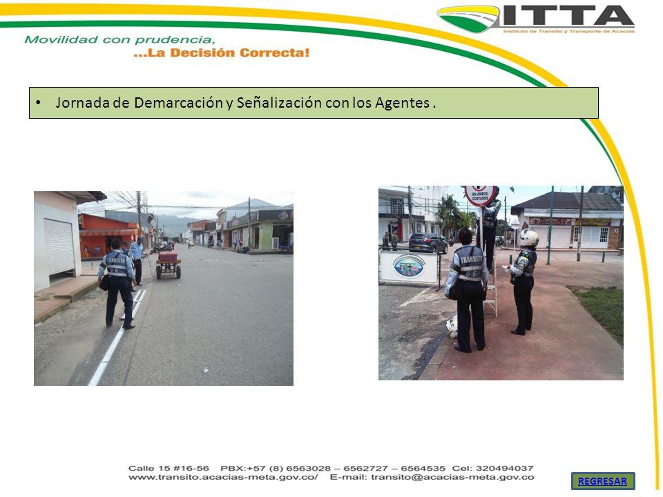 Jornada de Demarcación y Señalización con los Agentes. REGRESAR