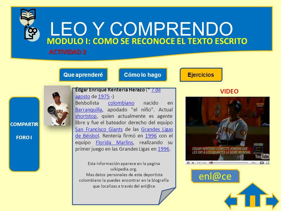 LEO Y COMPRENDO MODULO I: COMO SE RECONOCE EL TEXTO ESCRITO Escribe un breve mensaje destinado a un pariente tuyo: ¿ Cuál es el propósito del mensaje?
