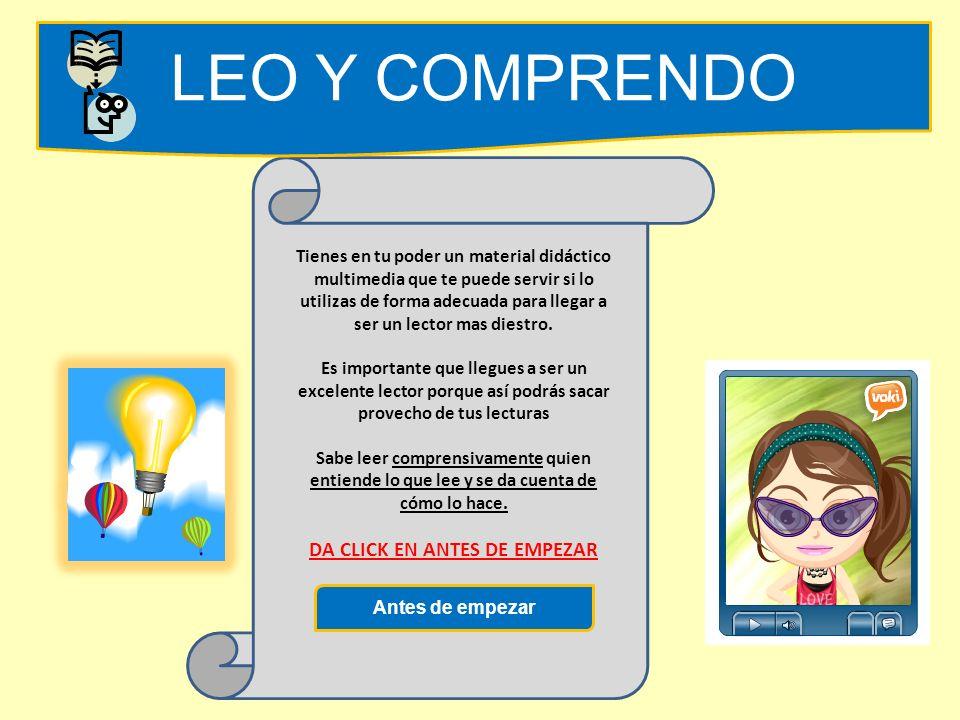 LEO Y COMPRENDO EntrarUSUARIO CONTRASEÑA