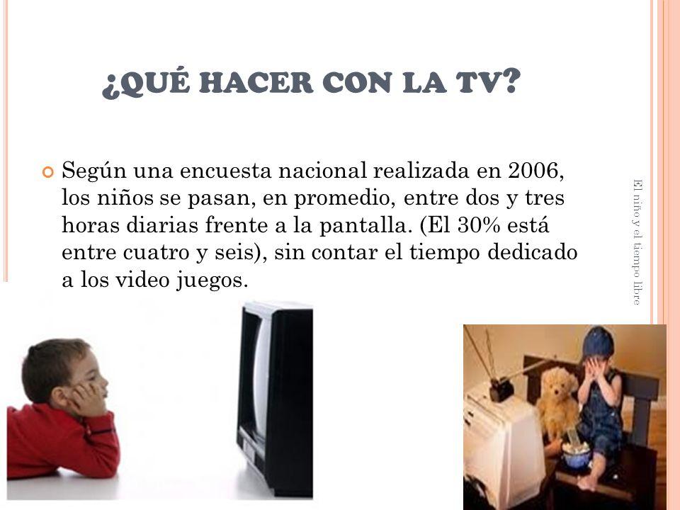 ¿ QUÉ HACER CON LA TV .