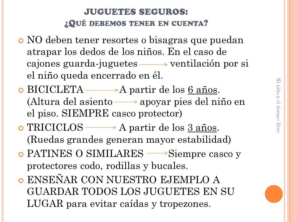 JUGUETES SEGUROS: ¿Q UÉ DEBEMOS TENER EN CUENTA .