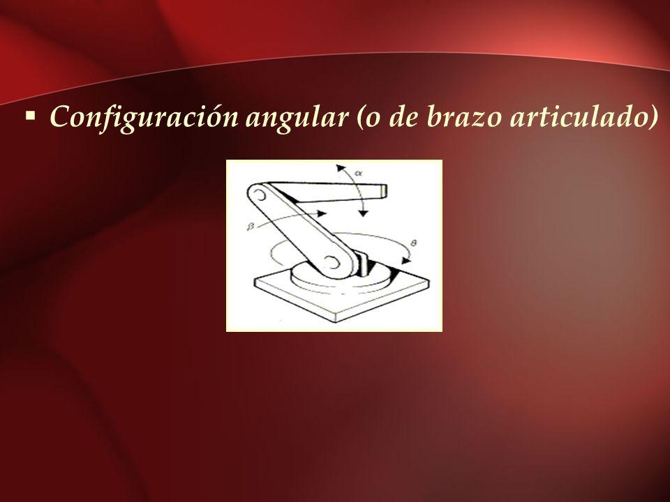Configuración angular (o de brazo articulado)