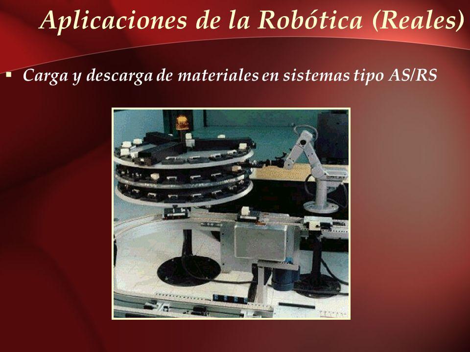 Aplicaciones de la Robótica (Reales) Carga y descarga de materiales en sistemas tipo AS/RS