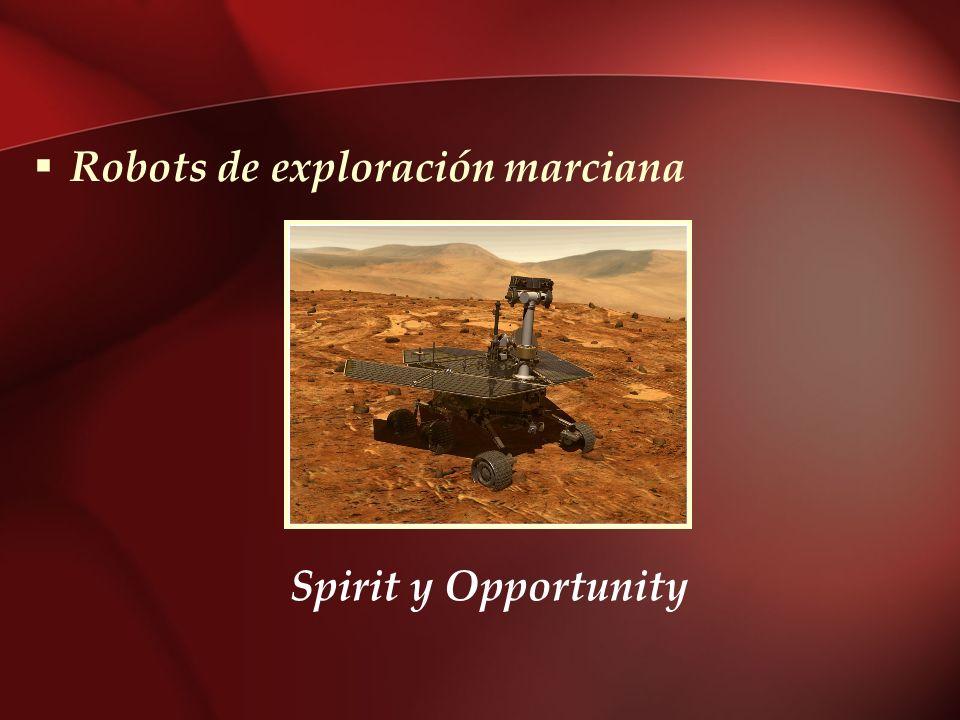 Robots de exploración marciana Spirit y Opportunity