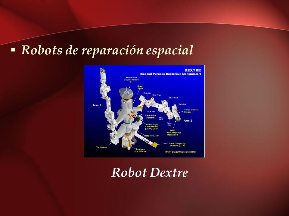 Robots de reparación espacial Robot Dextre
