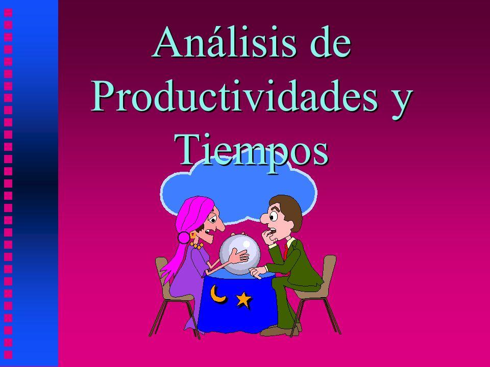 Análisis de Productividades y Tiempos
