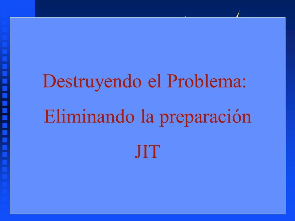 ¿Cómo reducirlo? n Reduciendo el Lote n Reducir el Tiempo (coste) de Preparación n ¿Como? Destruyendo el Problema: Eliminando la preparación JIT