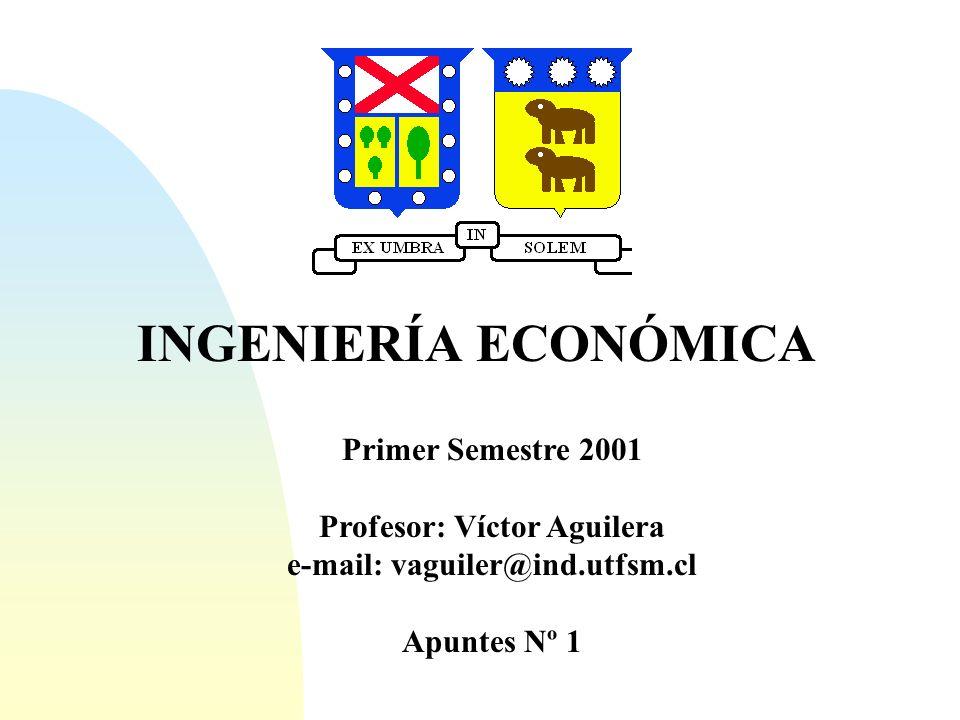Ingeniería Económica Colección de tecnicas matemáticas que simplifican las coparaciones económicas.