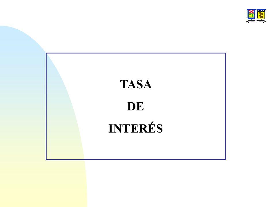 Interés nominal (r): La tasa de interés del período por el número de períodos.