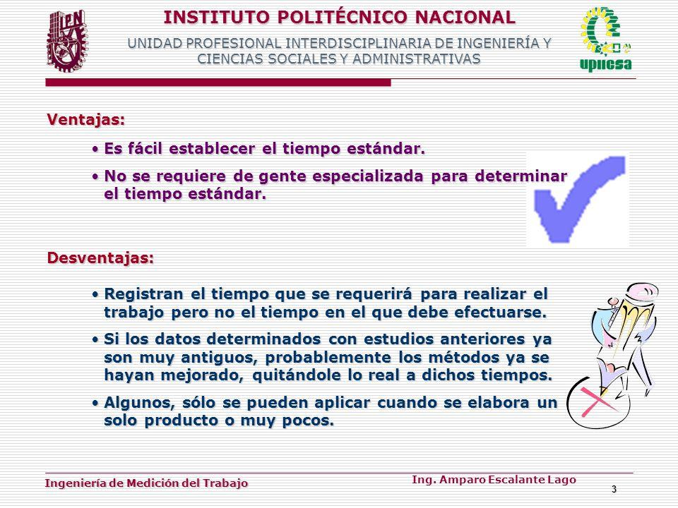 INSTITUTO POLITÉCNICO NACIONAL UNIDAD PROFESIONAL INTERDISCIPLINARIA DE INGENIERÍA Y CIENCIAS SOCIALES Y ADMINISTRATIVAS Ingeniería de Medición del Tr