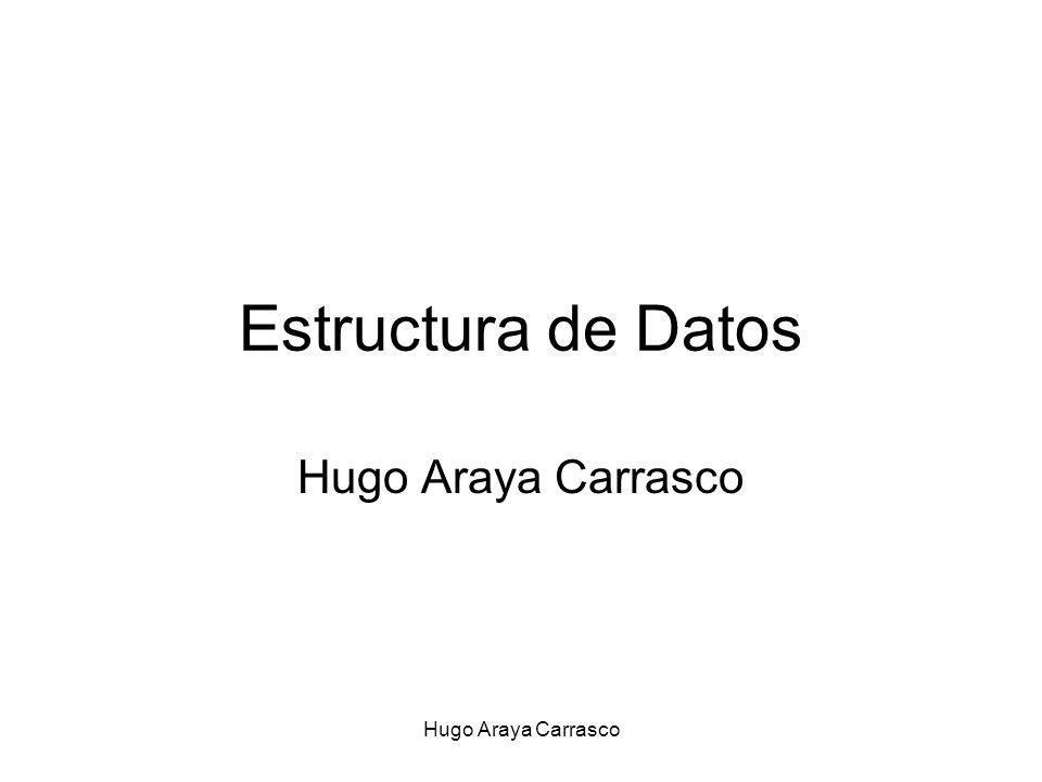 Hugo Araya Carrasco Estructura de Datos Hugo Araya Carrasco