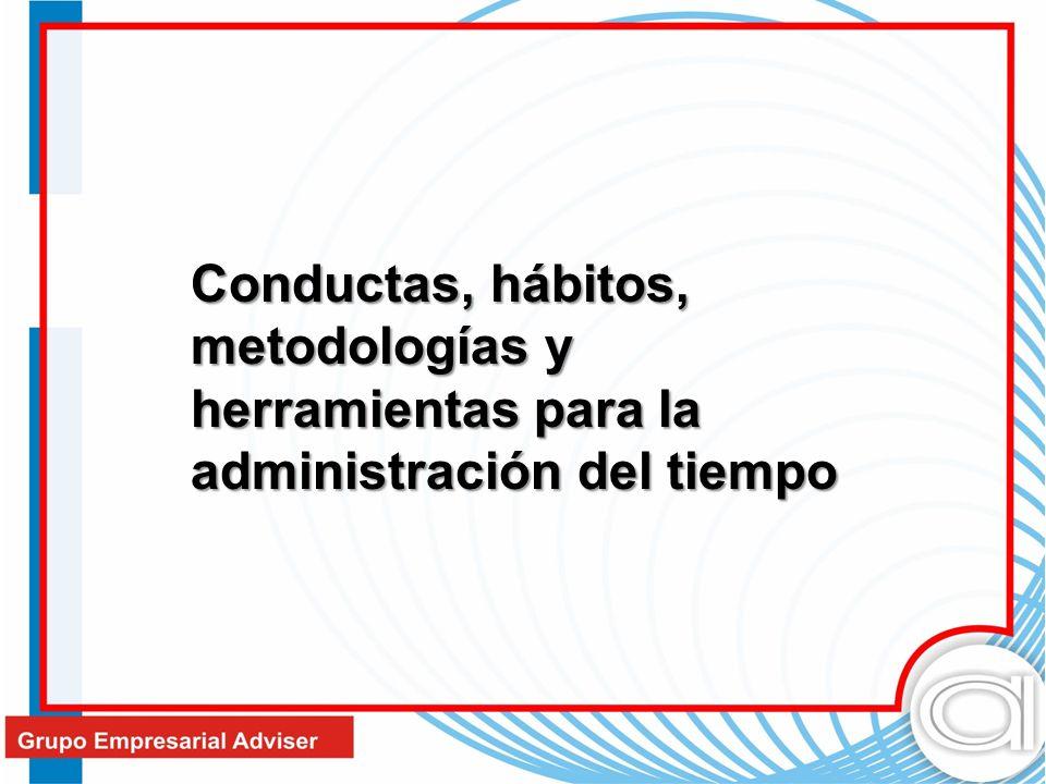 Conductas, hábitos, metodologías y herramientas para la administración del tiempo