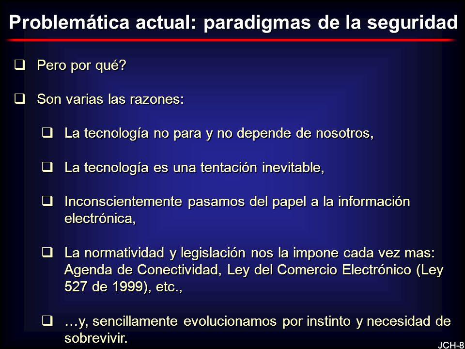JCH-8 Pero por qué? Pero por qué? Son varias las razones: Son varias las razones: La tecnología no para y no depende de nosotros, La tecnología no par