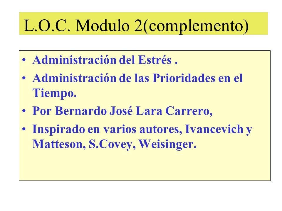 L.O.C.Modulo 2(complemento) Administración del Estrés.