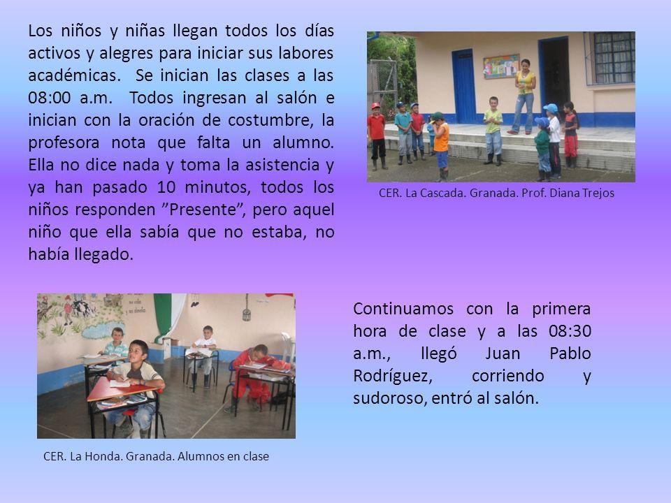 Los niños y niñas llegan todos los días activos y alegres para iniciar sus labores académicas.