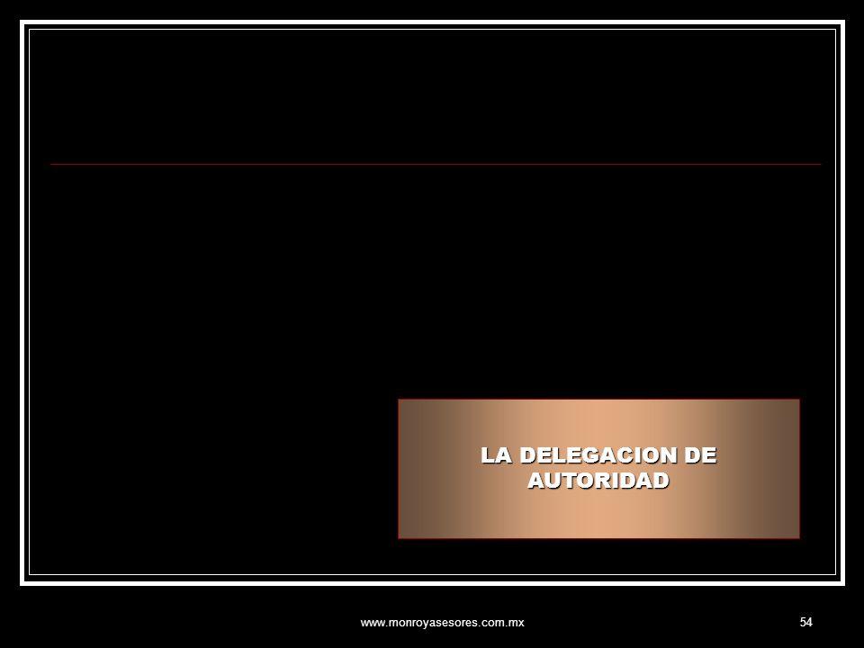 www.monroyasesores.com.mx54 LA DELEGACION DE AUTORIDAD