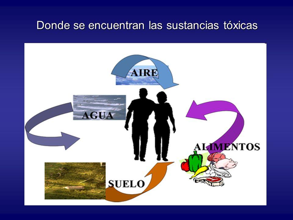 Donde se encuentran las sustancias tóxicas