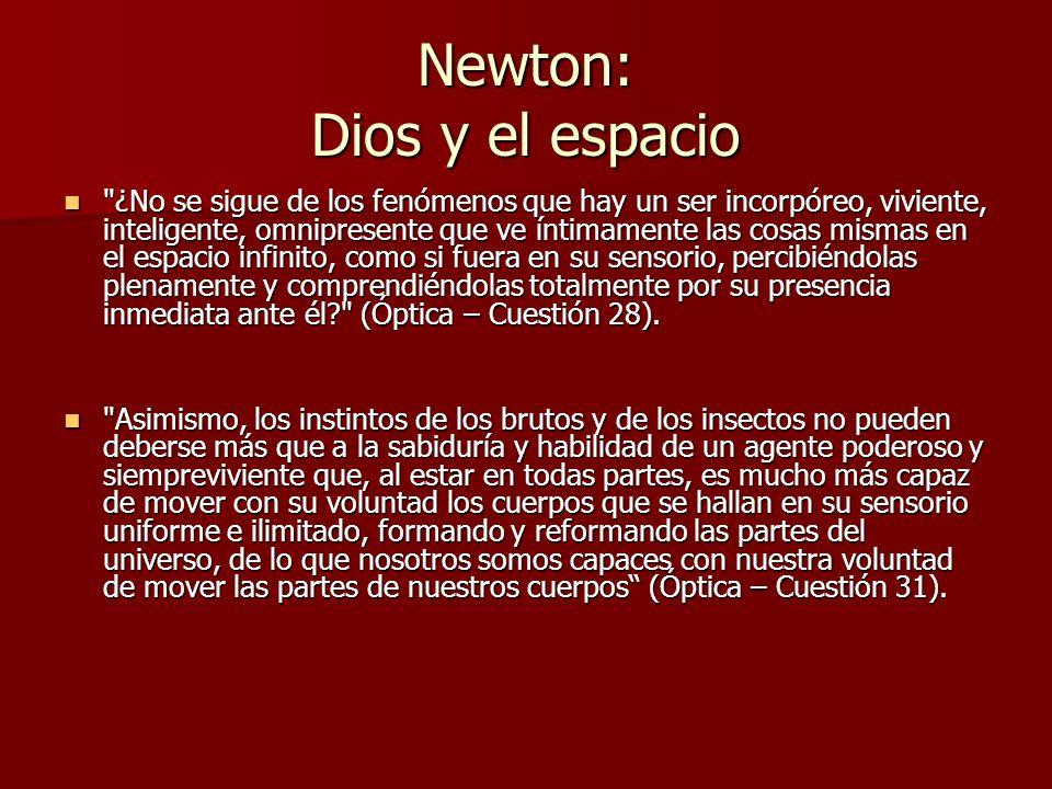 Newton: Dios y el espacio