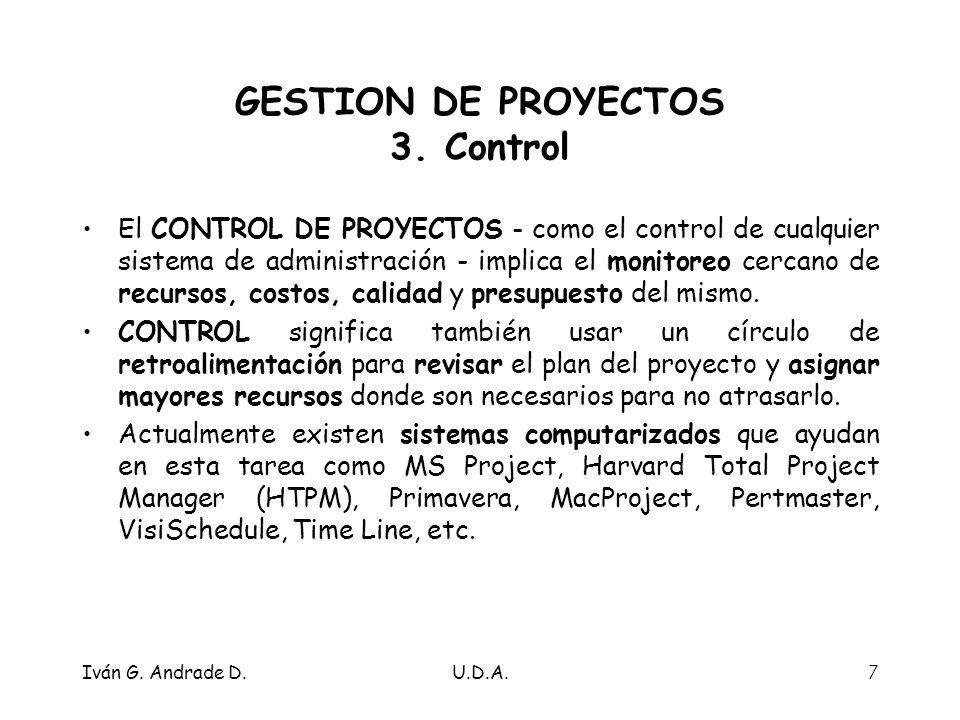 Iván G.Andrade D.U.D.A.7 GESTION DE PROYECTOS 3.
