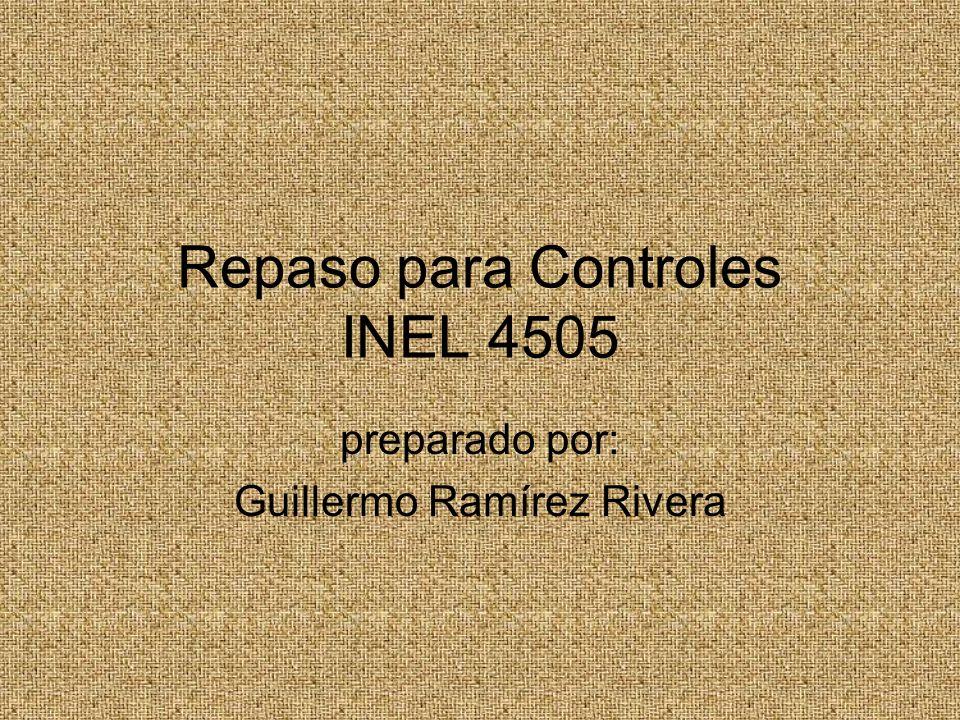 Repaso para Controles INEL 4505 preparado por: Guillermo Ramírez Rivera