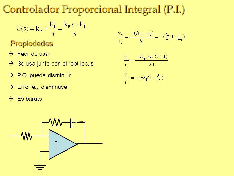 Controlador Proporcional Integral (P.I.) Fácil de usar P.O.