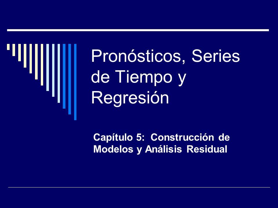 Pronósticos, Series de Tiempo y Regresión Capítulo 5: Construcción de Modelos y Análisis Residual