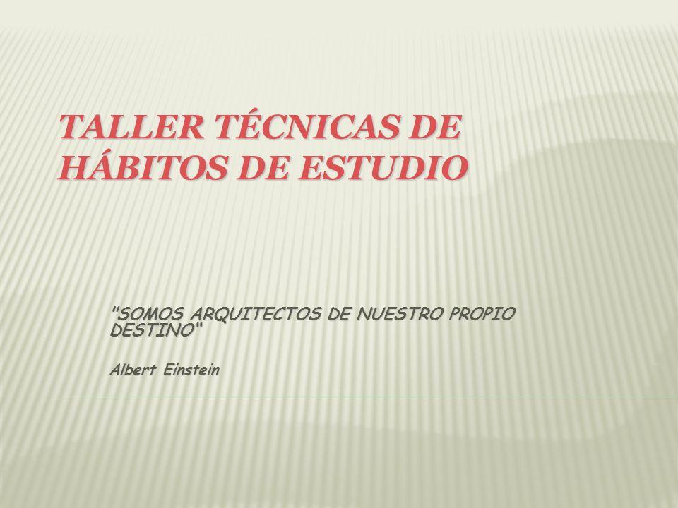 ASPECTOS IMPORTANTES DEL TEST DE HÁBITOS DE ESTUDIO (PÁG.