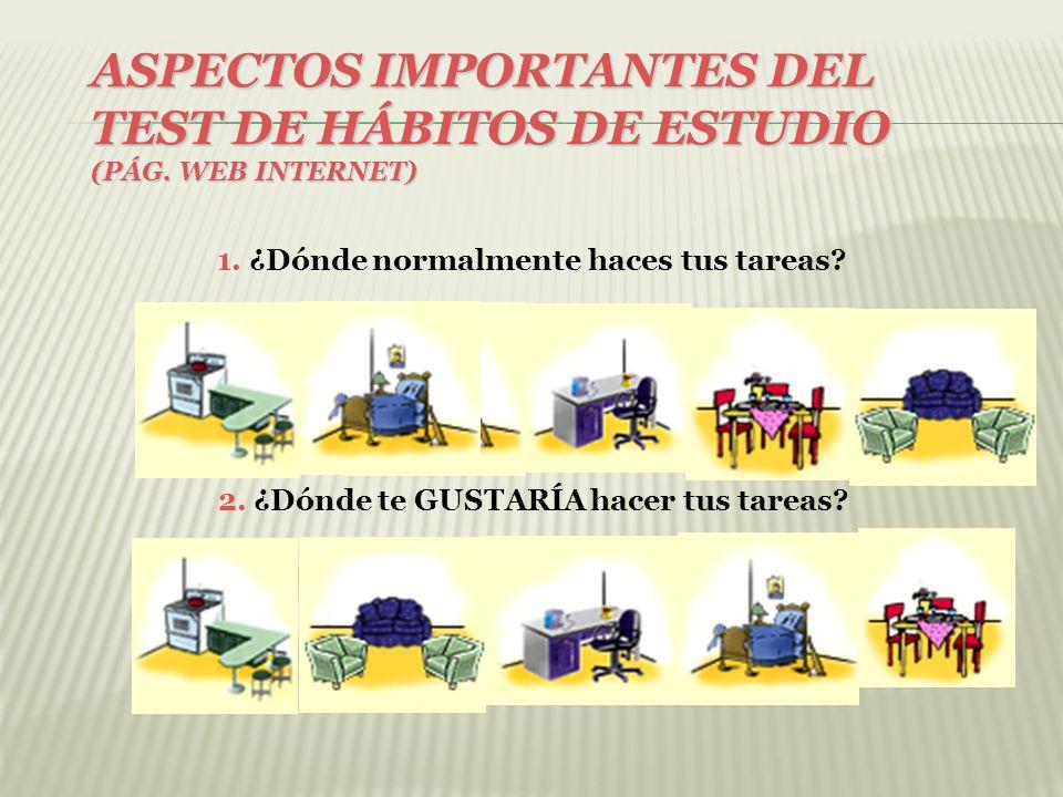 ASPECTOS IMPORTANTES DEL TEST DE HÁBITOS DE ESTUDIO 3.
