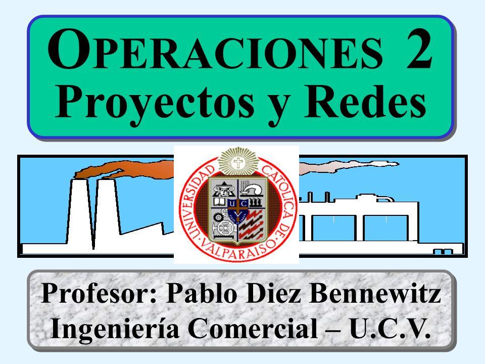 O PERACIONES 2 Proyectos y Redes Profesor: Pablo Diez Bennewitz Ingeniería Comercial – U.C.V.