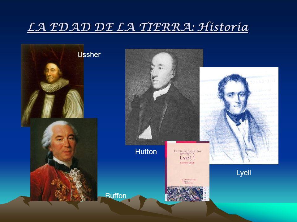 LA EDAD DE LA TIERRA: Historia Lyell Hutton Buffon Ussher