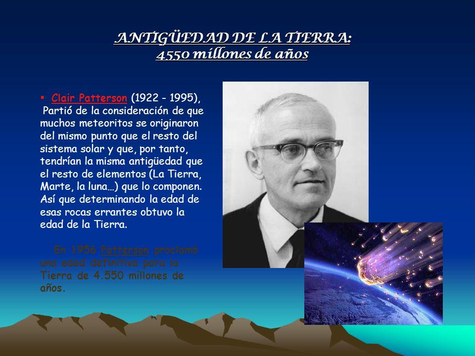 Clair Patterson (1922 - 1995), Partió de la consideración de que muchos meteoritos se originaron del mismo punto que el resto del sistema solar y que,