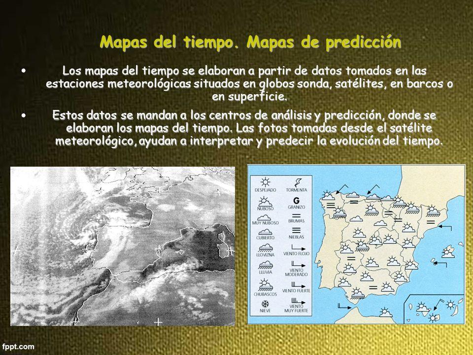 Mapas del tiempo.