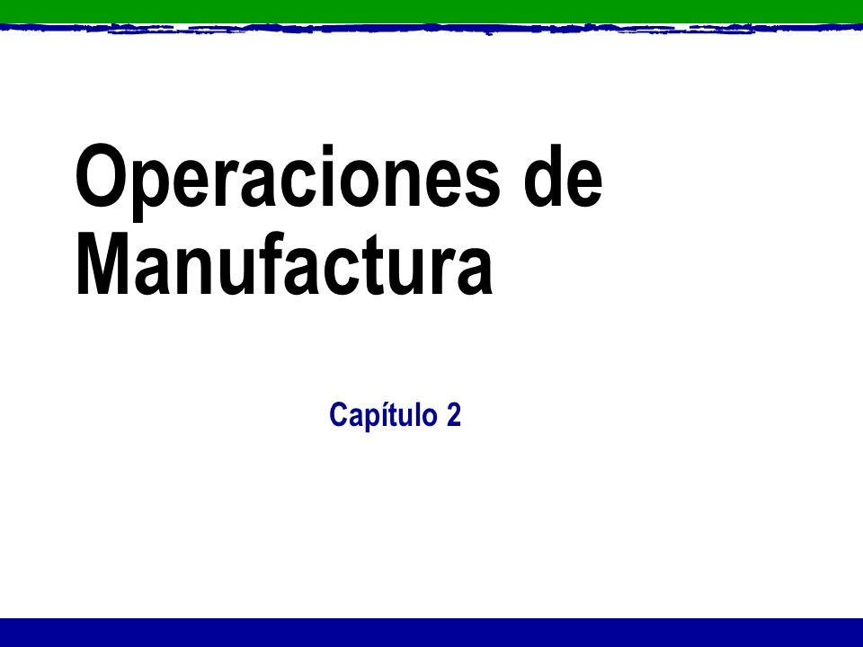 Operaciones de Manufactura Capítulo 2