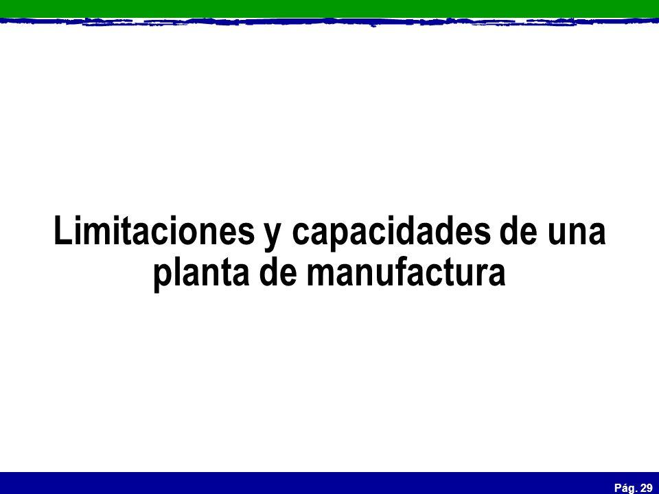 Pág. 29 Limitaciones y capacidades de una planta de manufactura