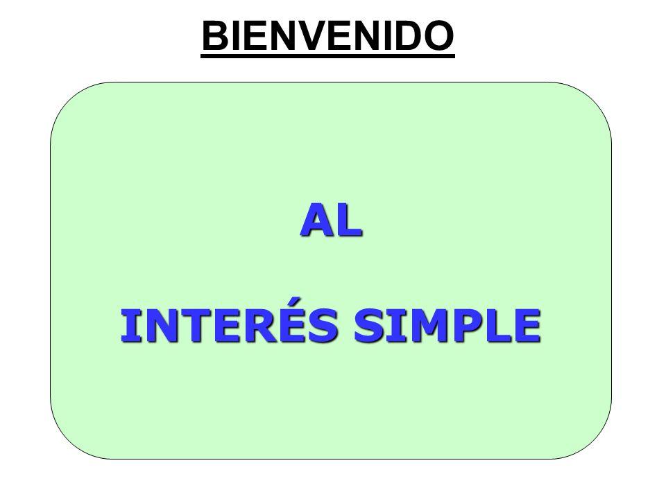 Interés Simple Comencemos revisando los conceptos claves : Capital, Interés y Tasa de Interés.