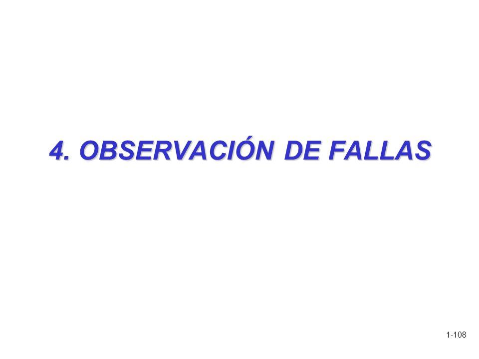 1-108 4. OBSERVACIÓN DE FALLAS