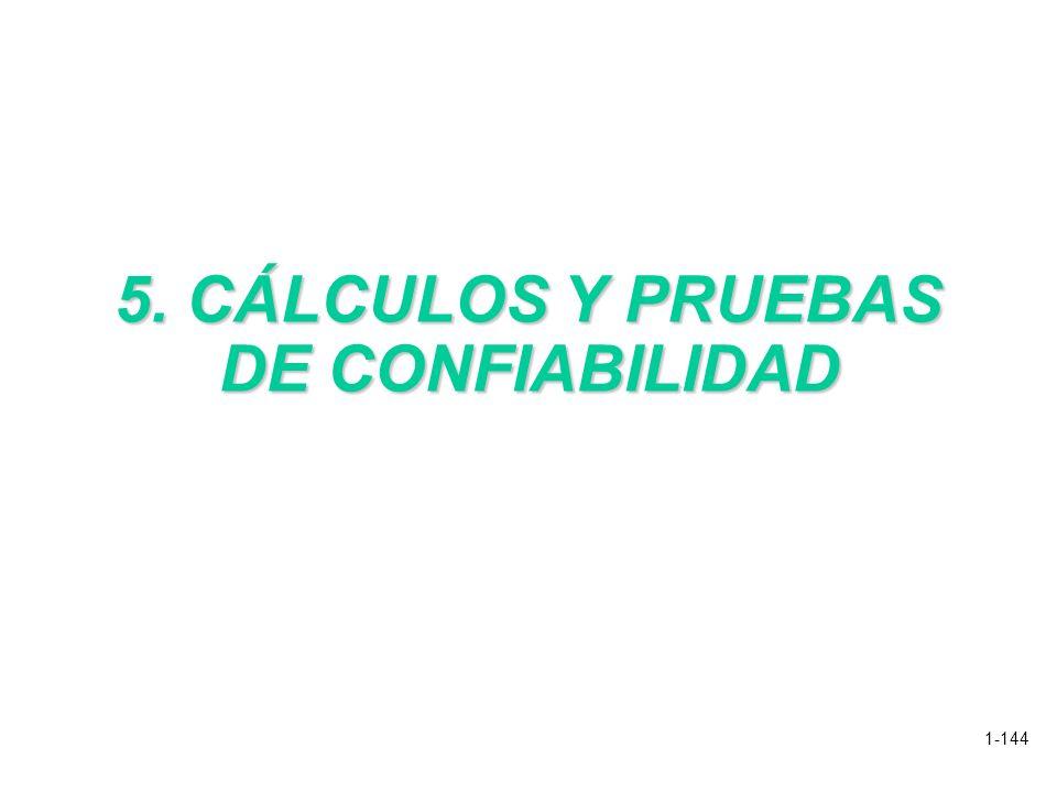 1-144 5. CÁLCULOS Y PRUEBAS DE CONFIABILIDAD