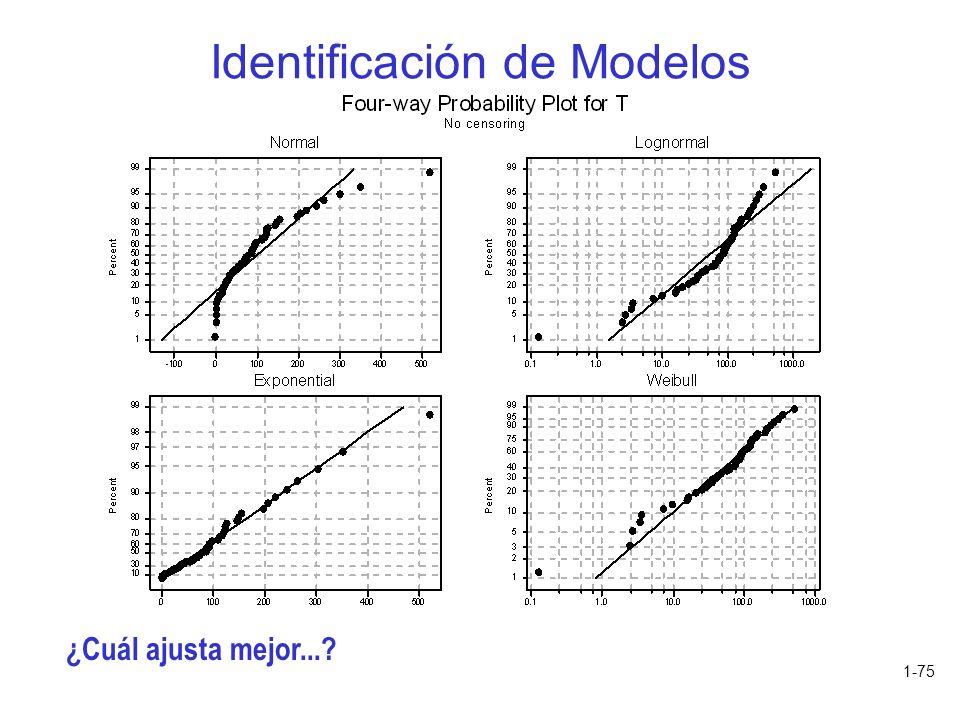 1-75 Identificación de Modelos ¿Cuál ajusta mejor...?