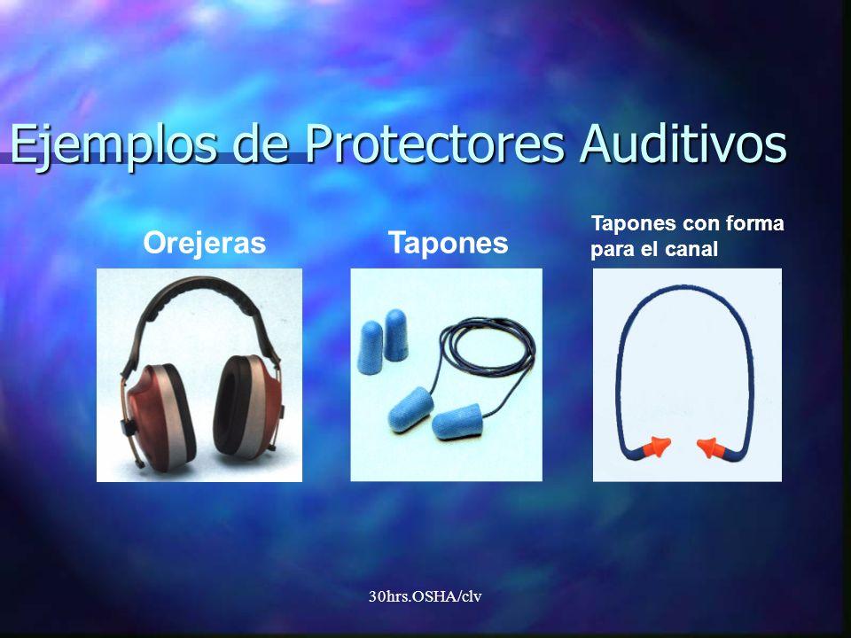 30hrs.OSHA/clv OrejerasTapones Tapones con forma para el canal Ejemplos de Protectores Auditivos