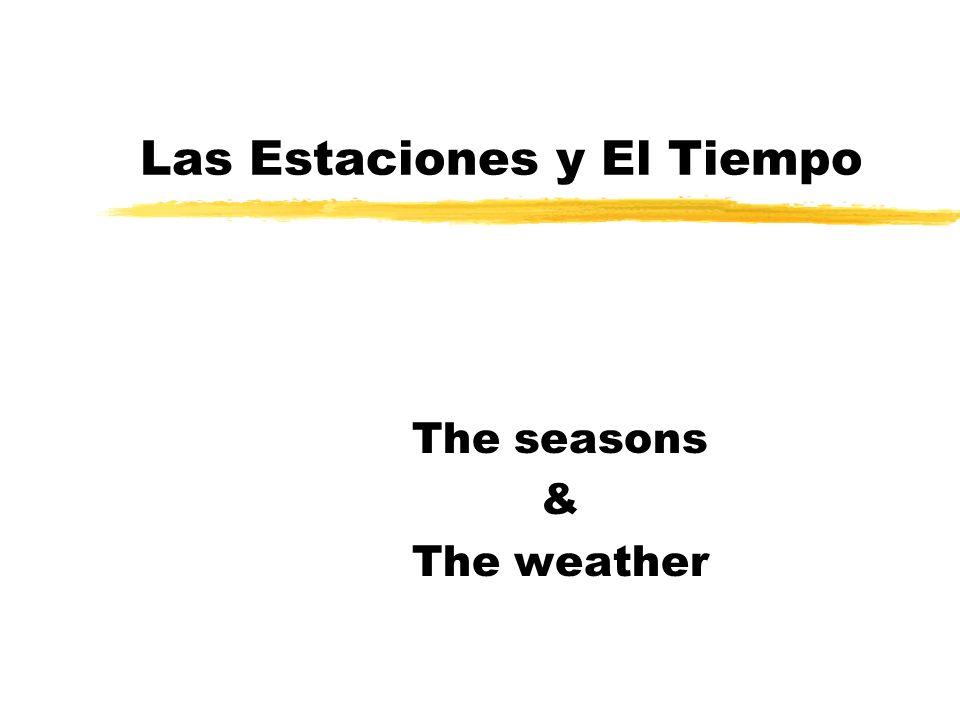 Las Estaciones y El Tiempo The seasons & The weather