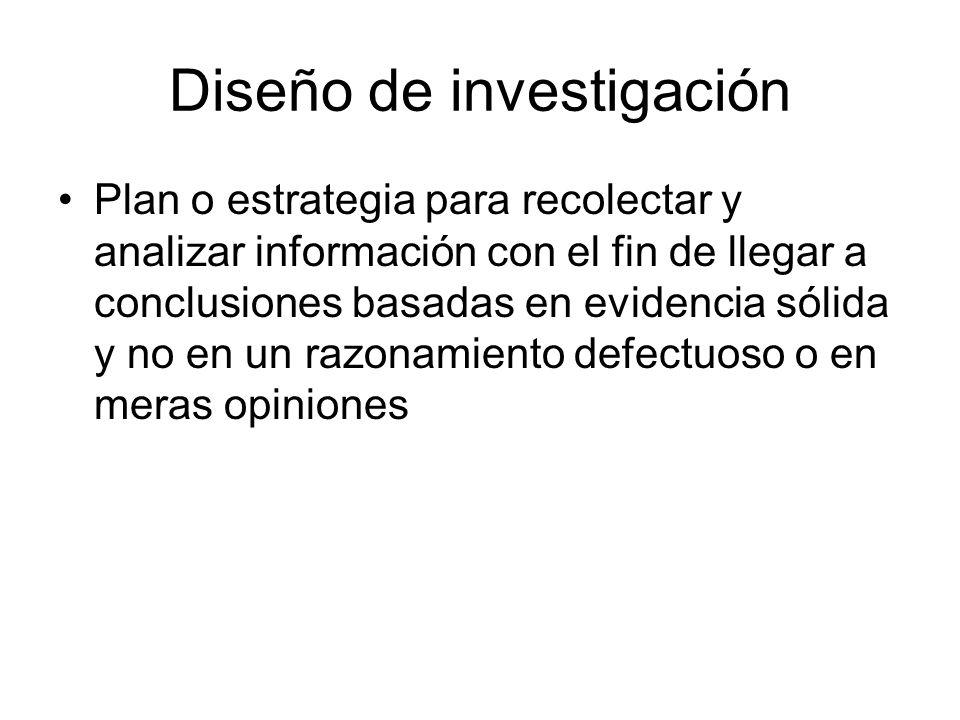 Plan o estrategia para recolectar y analizar información con el fin de llegar a conclusiones basadas en evidencia sólida y no en un razonamiento defectuoso o en meras opiniones